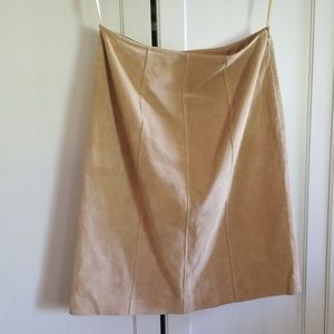 Ann Taylor suede skirt size 6